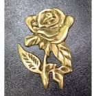 """Tudor Rose"" Polished Brass Motif Post Box"
