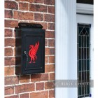"""Liver Bird"" Wall Mounted Post Box in Situ Next to the Front Door"