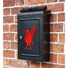 "Traditional Wall Mounted Post Box with Red ""Liver Bird"" Design"