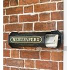 LB1015_BLK - Times Past Victorian Black Styled Newspaper Box -5
