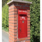 Red ER Post box front