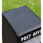 View of the Top of the 'Original Reproduction' Black Elizabeth Regina Post & Parcel Box