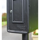 Close-up of the Black Finish on the 'Original Reproduction' White Elizabeth Regina Post & Parcel Box