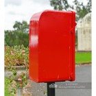 """Original Reproduction"" Red Elizabeth Regina Post and Parcel Box With Stand"