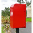 View of the Back of the 'Original Reproduction' Red Elizabeth Regina Post & Parcel Box