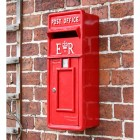 'Original Reproduction' Red Elizabeth Regina Slim Post Box