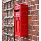 Red Elizabeth Regina Slim Post Box in Full