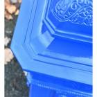 Close up of corner on 'Coastal Surf' Camden Post Box