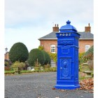 'Coastal Surf' Blue Camden Post Box