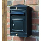 Narrow wall mounted Sheffield post box with front opening door
