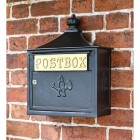 Black The Suffolk Post or Parcel Box