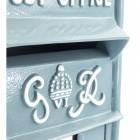 Slim King George Post Box