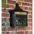 Huntingdon Post box finished in black on Town House Wall