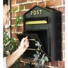 Open wall mounted post box