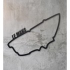 Le Mans Race Track Wall Art in the Home