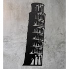 Leaning Tower of Pisa Wall Art on a Rustic Grey Wall