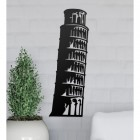 Leaning Tower of Pisa Wall Art on the Wall Next to Plants