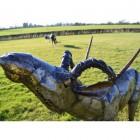 """""""Nahima"""" Leaping Impala Garden Sculpture"""