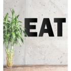 Black Metal Letters 'EAT'