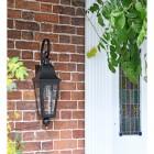 'Cleobury' Black Wall Lantern in full