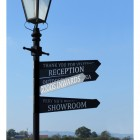 Direction signs n Lamp posts with lantern
