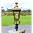 Antique Brass Finish Dorchester Lantern Pillar Set