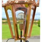 Copper Hexagonal Pillar Light and Lantern Set 86cm