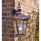 Copper Victorian Top Fix Wall Light On Corner Bracket