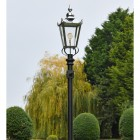 Victorian Lantern Created in Polished Nickel on post