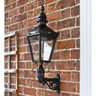 Black Wall Mounted Harrogate lantern and bracket