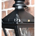 Close up of decorative corner finials