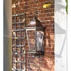 'Mosebly Manor' Antique Black Wall Lantern  in Situ