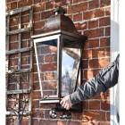 'Mosebly Manor' Antique Black Wall Lantern in Full
