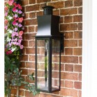 Slim Line Black Contemporary Porch Wall Lantern