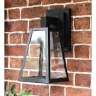 Angular Black Modern Porch Wall Lantern