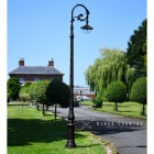 """Lady Oralie"" Deluxe Cast Iron Victorian Lamp Post finished in Black"