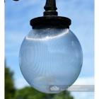 Close Up Of Ribbed Lamp Post Luminaire