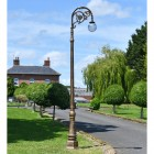 Deluxe Antique Gold Ornate Cast Iron Globe Lamp Post
