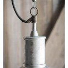 Galvanised Steel Outdoor Pendant Hanging Light Close Up