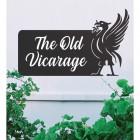 Liver Bird Iron House Name Sign with White Vinyl