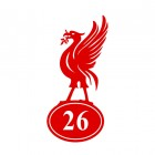 Liver Bird Iron House Number Sign Finished in Red