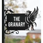 Liver Bird Wall Bracketed House Name Sign in Situ Outside
