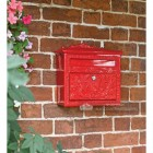 Lockable Bright Red Gothic Style Post Box