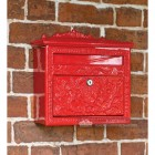 Lockable Ornate Wall Mounted Post Box