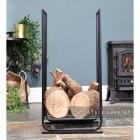 Long Contemporary Log Holder Holding Logs