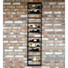 """The """"Ladder"""" Wine Wall Rack in Situ on the Wall holding Wine Bottles"""