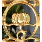 "Close-up of the ""Lotus Flower""Design on the Shelf Bracket"