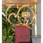 "Side View of the ""Lotus Flower"" Brass Shelf Bracket"