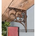 "Iron ""Lotus Flower"" Shelf Bracket in Situ"