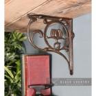 """Natural Iron """"Lotus Flower"""" Shelf Bracket"""